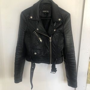 Members Only Cropped Vegan Leather Jacket